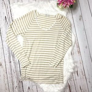 Reid's long sleeve gold striped top XS